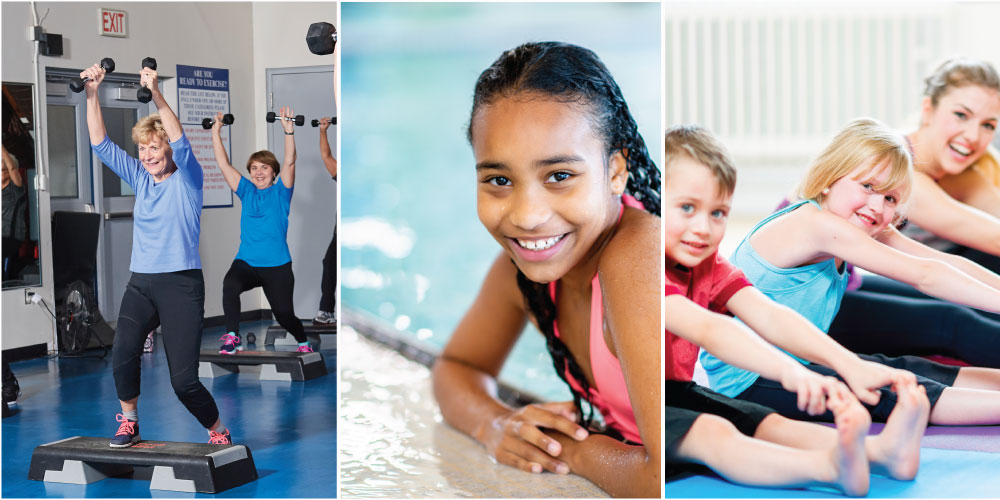 Facility passes, swim lessons, programs
