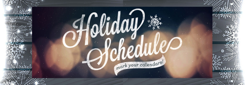 Holiday Schedules graphic