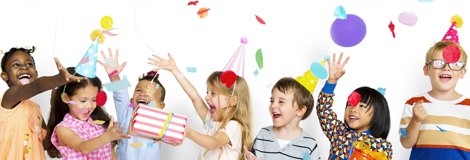 Kids celebrating at a birthday party.